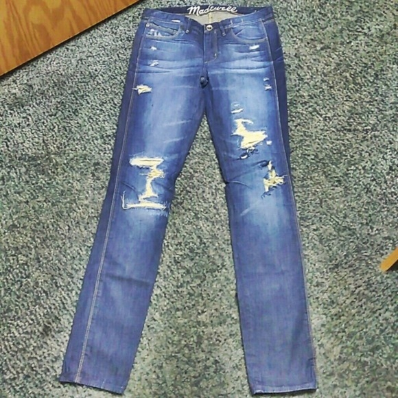 Madewell Denim - Madewell Skinny Low Jeans Size 27 Destroyed